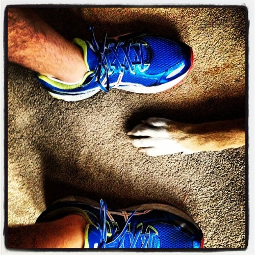 Time for a #morning #run with my favorite #running partner! I love morning runs but I really wanted to #sleep in today! (Taken with Instagram)
