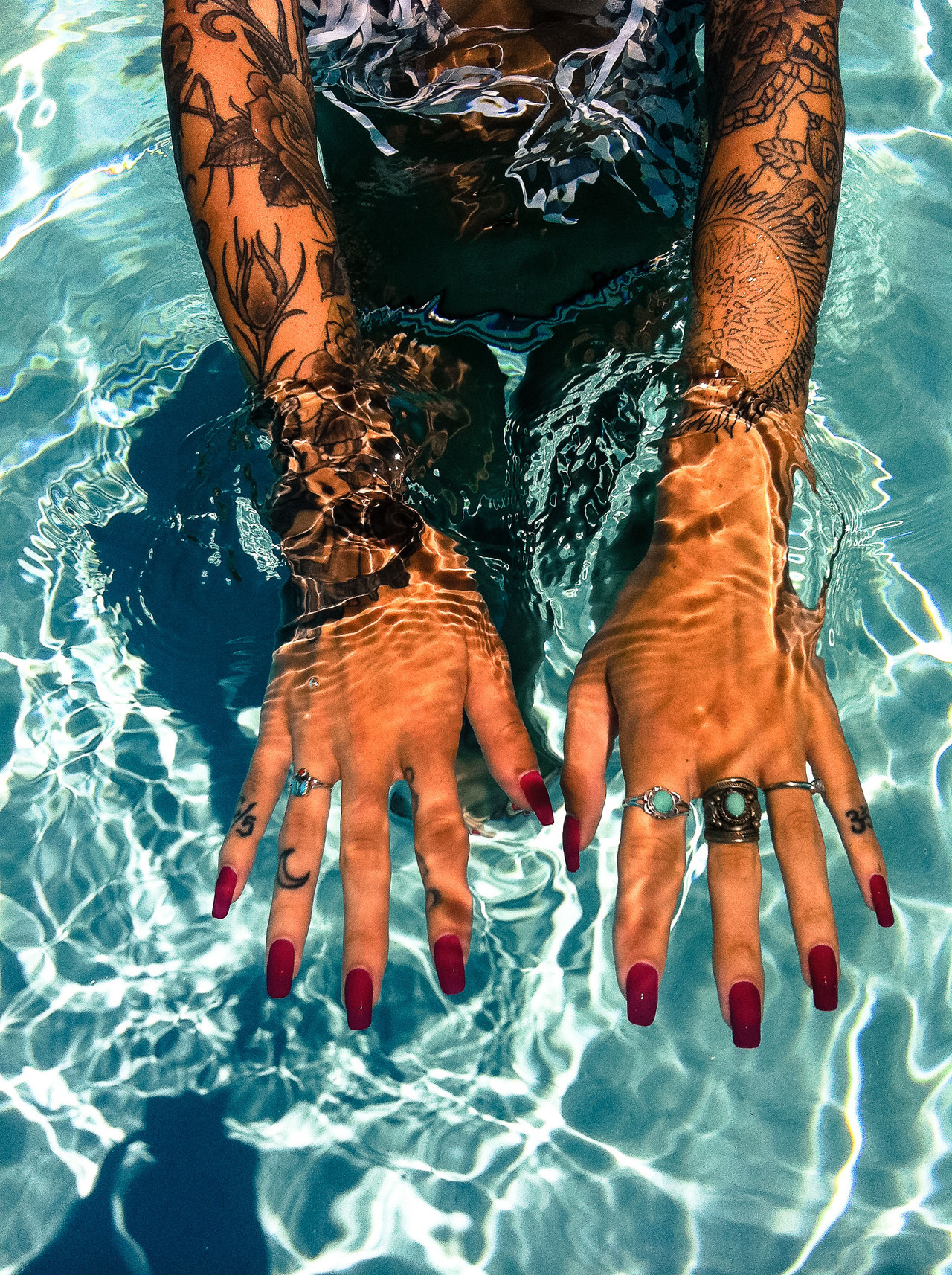 #tattoo #sleeve #sexy #water #beautiful