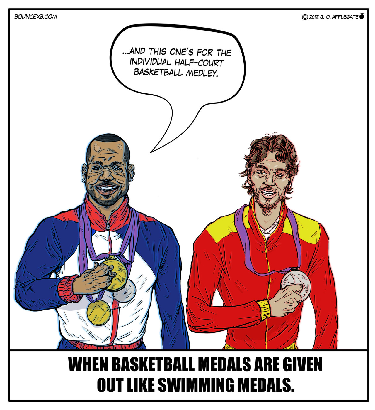 When basketball medals are given out like swimming medals by @Bouncex3