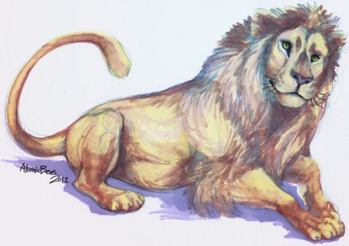 For my friend Not-a-Dragon Cause lions, that's why. :D