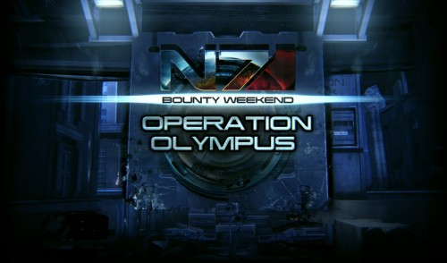 Mass Effect 3: Operation Olympus Coming this Weekend BioWare has announced Operation Olympus, the newest Mass Effect 3 multiplayer event. Beginning Friday, August 10th and running until August 12th. Increased Reaper activity has been reported around London. Operation OLYMPUS will focus large-scale strikes on the Reapers to buy the Resistance time to investigate. Squad Goal: Full extraction from Firebase London using any Kit on any difficulty Allied Goal: Using any Kit/ Map combination against any enemy, complete wave 10 on a combined community total of 200,000 Bronze missions, 175,000 Silver missions and 70,000 Gold missions. Special Circumstance: None Squad Goal Success: All squad members awarded a Commendation PackAllied Goal Success: All players awarded a Victory Pack Requirement: Mass Effect: Earth must be installed
