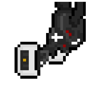 "GLaDOS, the highly efficient and slightly malevolent Aperture Science AI from the very clever ""Portal"" video game series, now given a rather unique (and fairly small) 25 x 27 pixel tribute.  Actually, this has just given me the idea for a brilliant new Iphone Cover…  See Also:WheatleyAtlas and P-BodyChell"