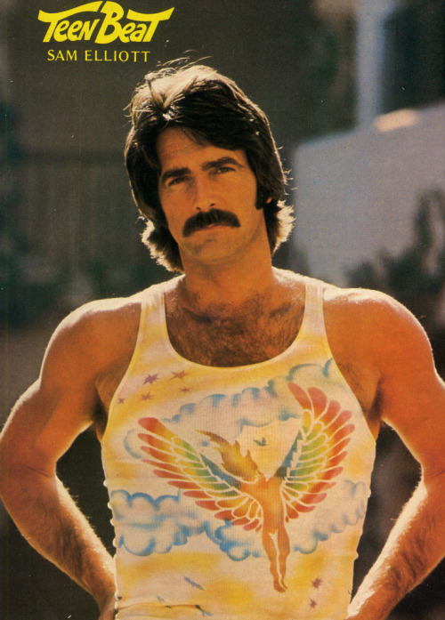 Sam Elliott in Teen Beat magazine, 1976.