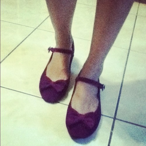 The last thing I bought!  #plum #flats #ribbon #comfy #finds (Taken with Instagram)