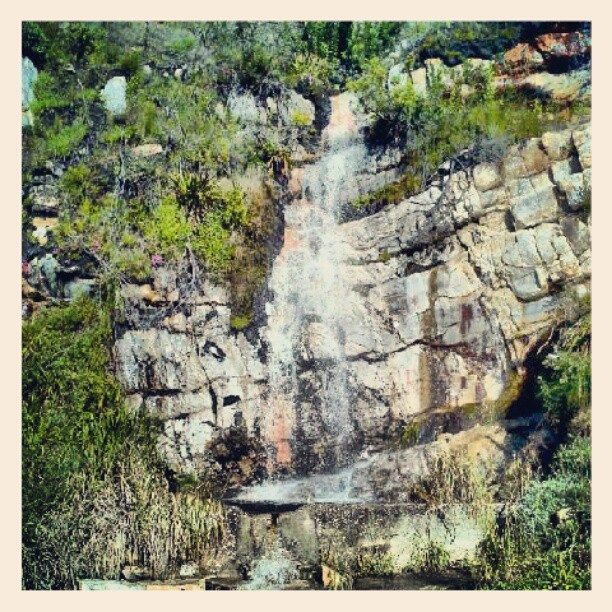 Robinson pass a little waterfall. (Taken with Instagram)