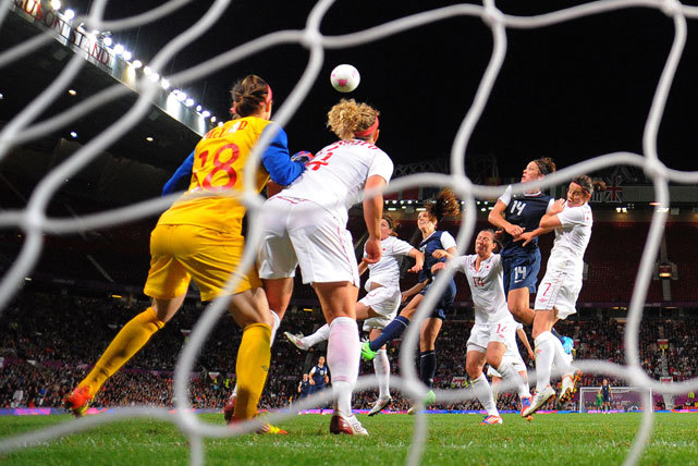 U.S. forward Alex Morgan heads in the winning goal during the women's soccer semifinal match against Canada. The U.S. came from behind three times before Morgan's winning goal in extra time. The U.S. women play for gold against Japan on Thursday afternoon. (ANDREW YATES/AFP/Getty Images) GALLERY: Classic Photos of Alex MorganWAHL: Respect at the core of US-Japan gold medal matchVIDEO: Previewing the US-Japan women's soccer final