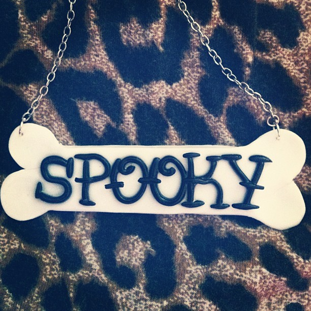victoriavonfrankenstein:  #new #pendant #bone #spooky #horror available in my #etsy link at the top of my ig page :) (Taken with Instagram)