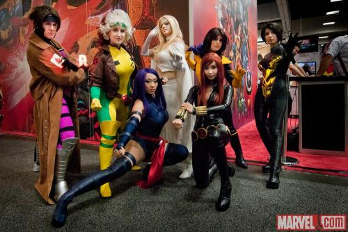 The X-Men descend upon the Marvel stage at Comic-Con International: San Diego! Photo by Nicole Ciaramella (Source: marvel.com)