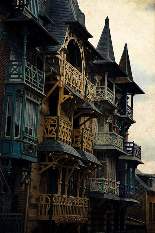 marthajefferson:  bluepueblo:  Balconies, Treport, France