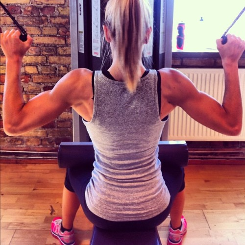 eatcleanmakechanges:  Those back muscles!! wow