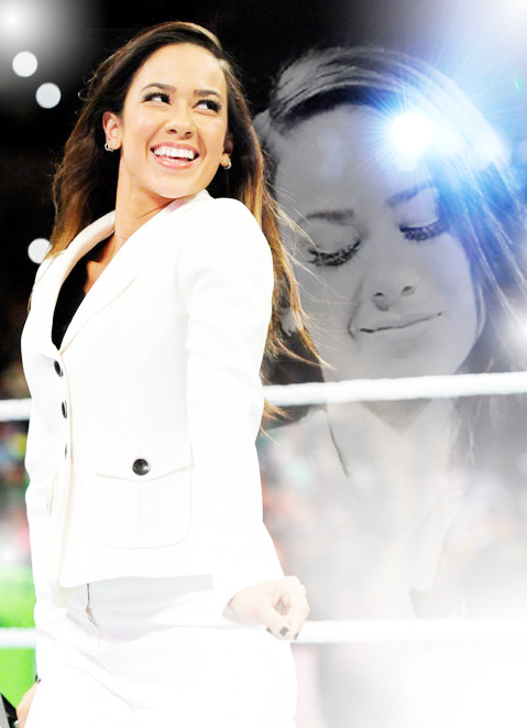 AJ Lee being cute :)