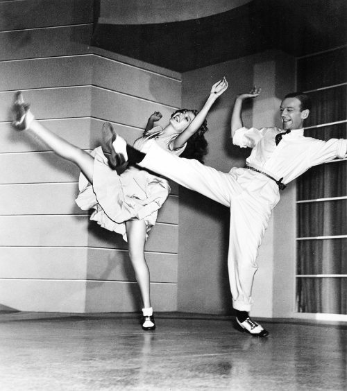 Rita Hayworth and Fred Astaire on the set of You Were Never Lovelier, 1942