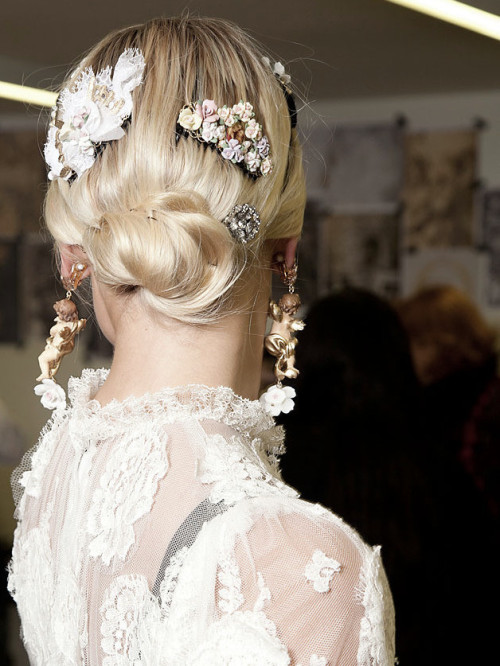 Backstage at Dolce and Gabbana Autumn/Winter 2012   (via imgTumble)