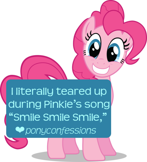 "I literally teared up during Pinkie's song ""Smile Smile Smile,"""