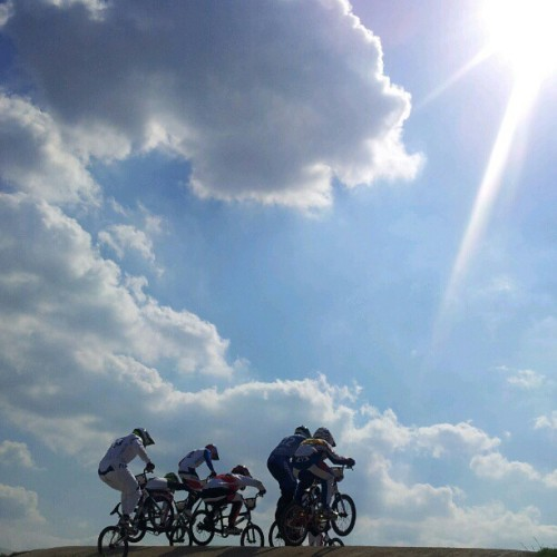 olympicmoments:  Up up and away #bmx #olympics (Taken with Instagram)