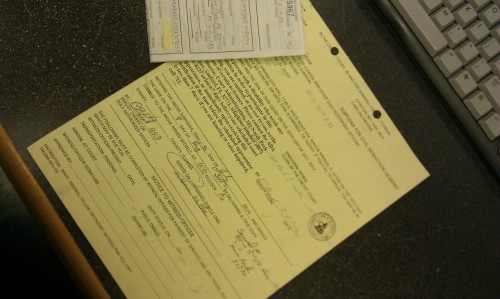 I just got served a subpoena (at work!) to appear in court because the guy who hit me last month apparently doesn't think he did or can't remember?