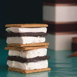 Daily Bite: Savor the last days of summer with these delicious homemade S'mores Stacks.