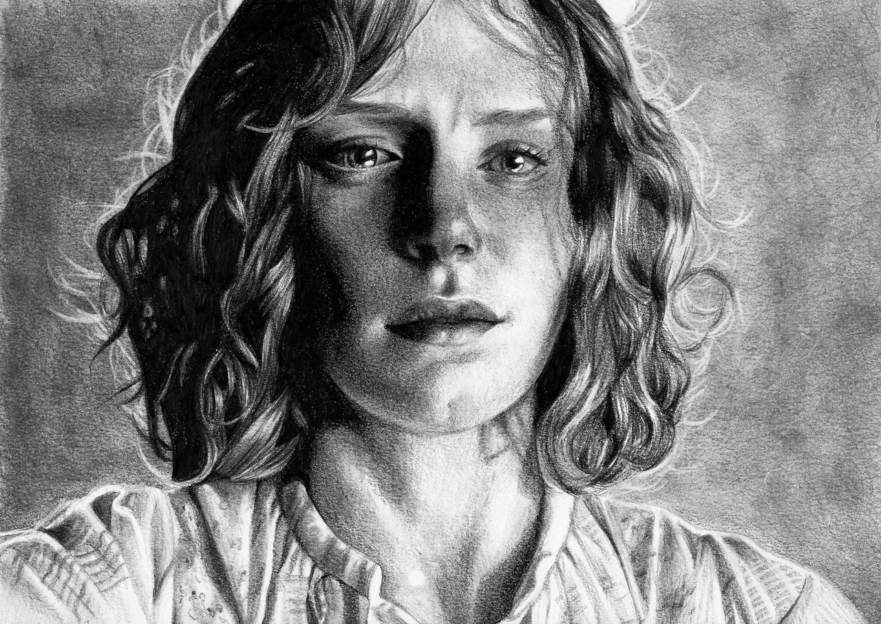 eatsleepdraw:  Pencil drawing of Bryce Dallas Howard as Ivy Walker in the movie The Village by Fabienne L.     ;o amazing