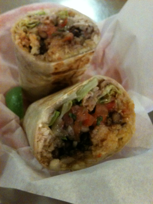 vegetarian burrito from somewhere in the castro. yum!