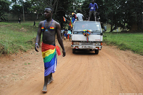 shapeandcolour:  This weekend, activists in Uganda - a country where homosexuality is punishable by death - held their first Pride.  This is the epitome of courage. I have no other words.