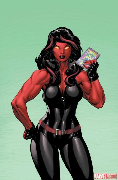 Okay, so Captain Marvel is doing well, but you guys gotta remember, Red She-Hulk is getting a book in October.  Let's try to see if we can muster the same support for this book as we did for Captain Marvel so we can open the door for more female leads books!