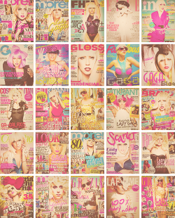 Lady Gaga on magazine covers