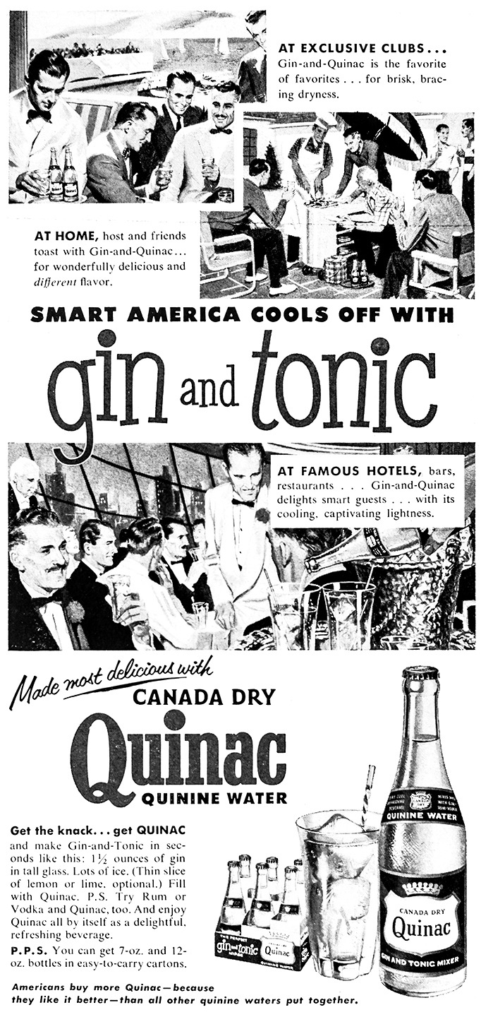 Quinac Advertisement - Gourmet: August 1954