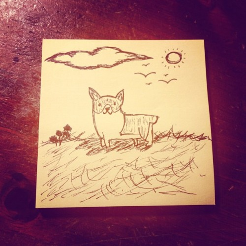 Early morning doodles. #corgi (Taken with Instagram)