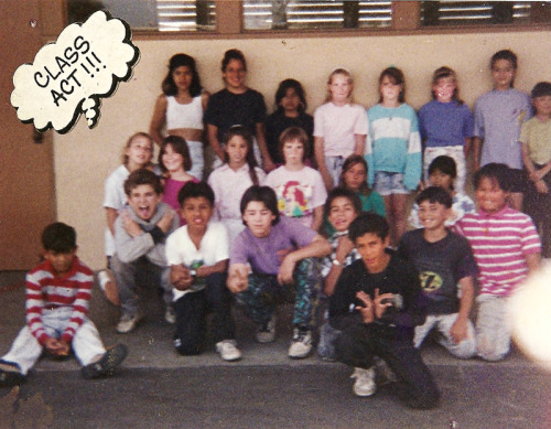 This is a photo of my fifth grade class. When I read articles like this one, or honestly just think back on my childhood neighborhood, I wonder how many of them have been shot by the cops by now. My guess based in experience is probably between one and three. (For the curious, I'm in the middle row in the green shirt. Not looking at the camera because lol undiagnosed autism.)