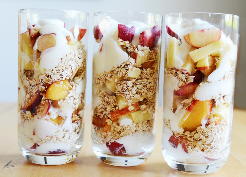 Peach, Nectarine, Apple & Oats Parfait