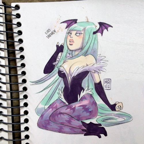 my friend Daw asked me to draw Morrigan with no reference, I don't know the character very well and I made mistakes but whatever.