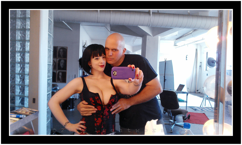 Larkin Love and I-A BTS shot from last weeks studio shoot.