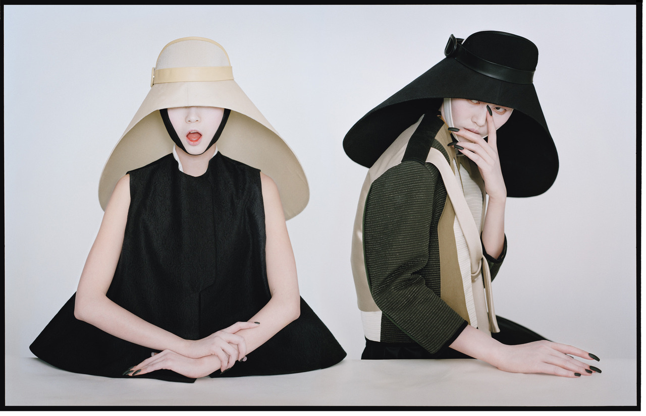 wmagazine:  Photo by Tim Walker Just an understated hat look…