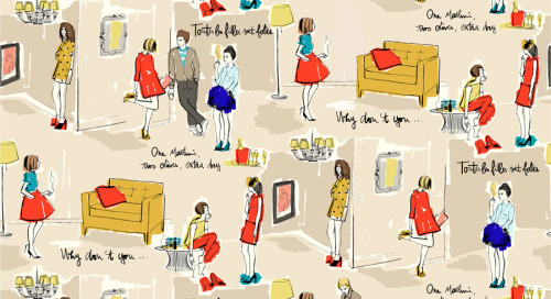 J'Adore! Garance Dore designs a line of illustrated prints for Kate Spade. http://bit.ly/ONRJb3.