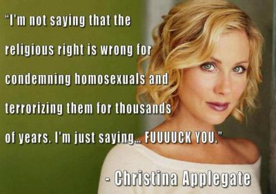 atheist-overdose:  I think i just became a christina applegate fanfollow for the best atheist posts on tumblr