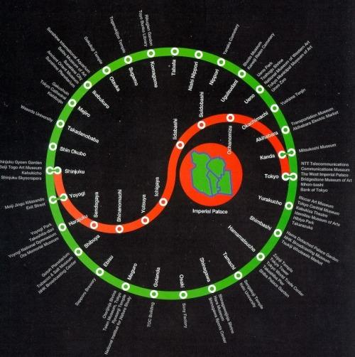 h0ned:  Richard Saul Wurman's (Architect) designer map of Tokyo. He founded TED conference. Source: http://www.edge.org/documents/Edge-Serpentine-MapsGallery/index.html