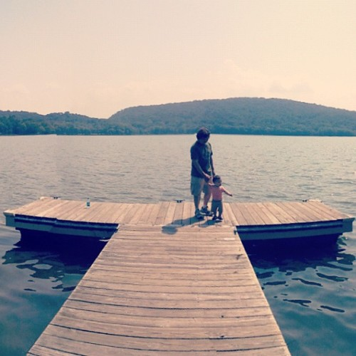 Lake + Lolo. #Kapunanboysdayout #3generations (Taken with Instagram at Rockland Lake)