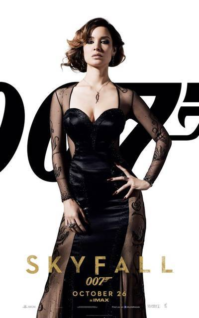 #Skyfall - Bérénice Marlohe as Severine (via Skyfall – I character poster di Daniel Craig, Javier Bardem e delle Bond Girl! | Il blog di ScreenWeek.it)