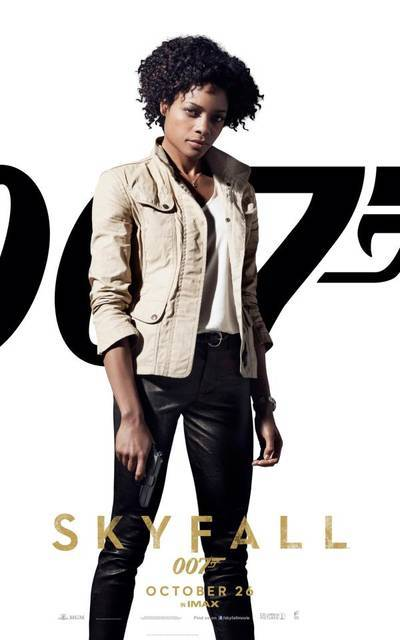 #Skyfall - Naomi Harris as Eve (via Skyfall – I character poster di Daniel Craig, Javier Bardem e delle Bond Girl! | Il blog di ScreenWeek.it)
