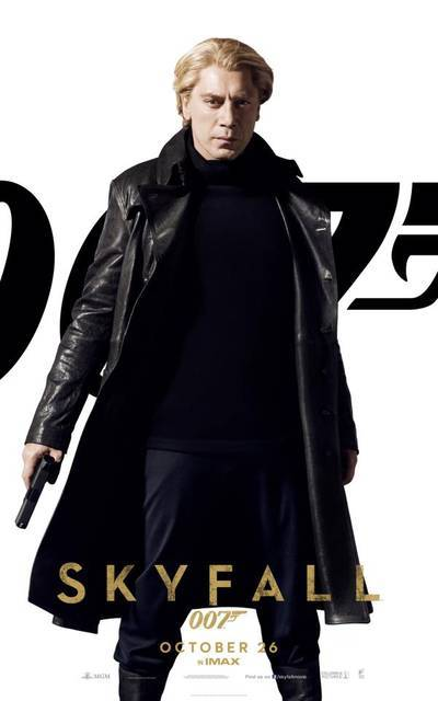#Skyfall - Javier Bardem as Silva (via Skyfall – I character poster di Daniel Craig, Javier Bardem e delle Bond Girl! | Il blog di ScreenWeek.it)