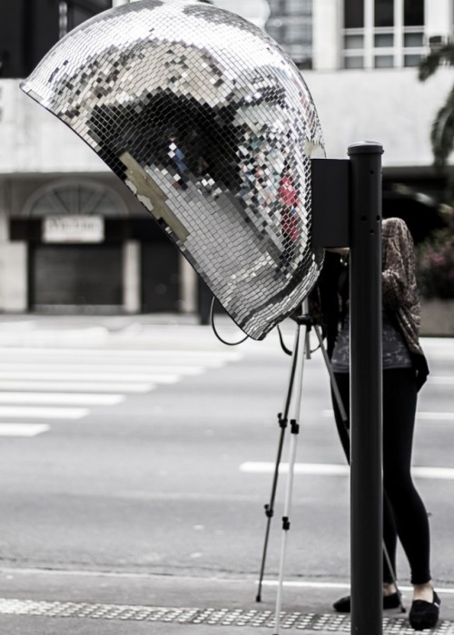 "Emeli Akemi's ""Hello Disco"" phone booth is a part of São Paulo's art project Call Parade"