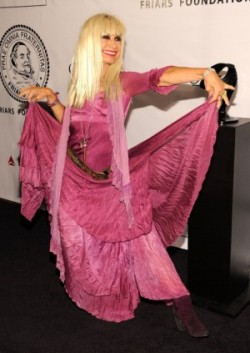 This is worthy of a cartwheel! Betsey Johnson is back and launching a dress collection during her fashion week retrospective. http://bit.ly/Nbp02d