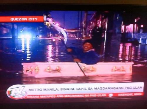 lol only in the Philippines. were devastated by flood but still find humor