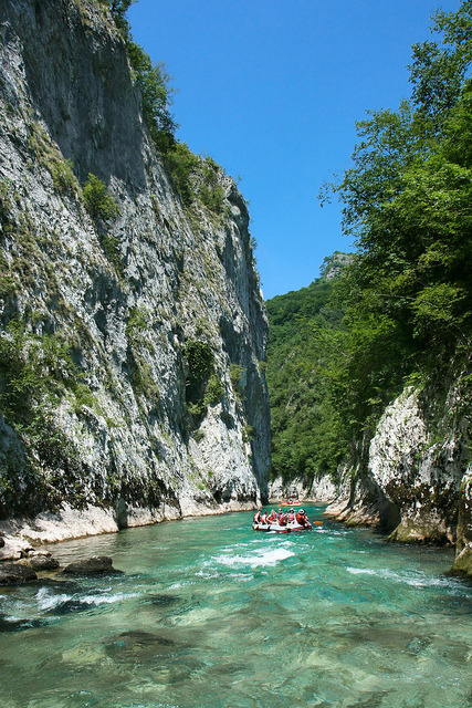 visitheworld:  Rafting in Neretva River Canyon, Bosnia and Herzegovina (by Bee_PureQuest).