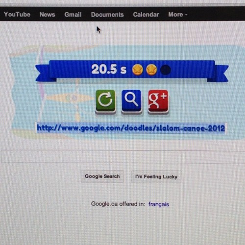 20.5 seconds canoe on google home page beat that! (Taken with Instagram)