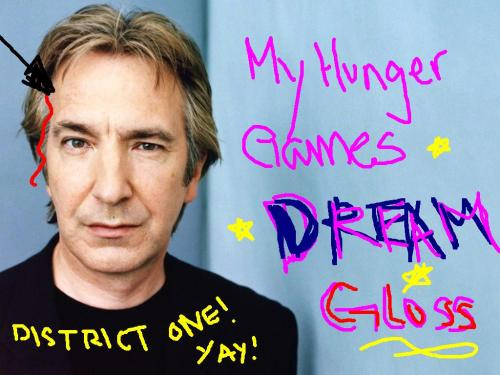 I'm all sad now that Alan Rickman's not going be Gloss, guys. I made fan art and everything.