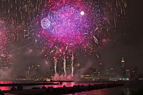 The Grand Finale of Macy's Fourth of July Fireworks Display from: NYC Photo Gallery- Going Green In New York City