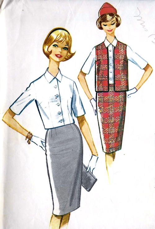 1961 Junior One Yard Separates: Skirt, Overblouse and Sleeveless Jacket Vintage Sewing Pattern McCall's 5972