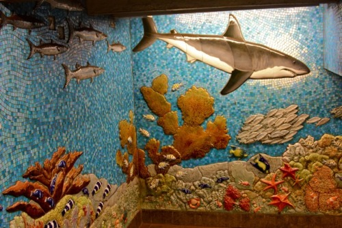 Ocean-Themed Mosaic Mural in the American Museum of Natural History Subway Station from: NYC Photo Gallery- Going Green In New York City