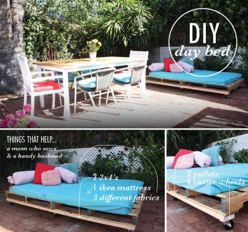 DIY: pallet day bed (via Beloved Indeed)